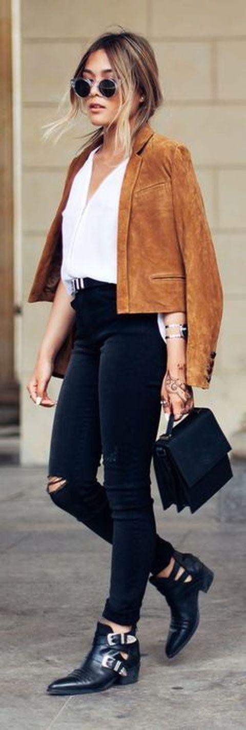 abbinamento giacca renna donna