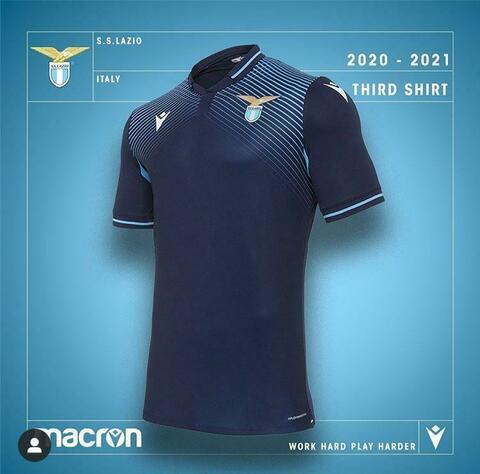 Lazio, nuove maglie svelate: ecco la prima e la terza