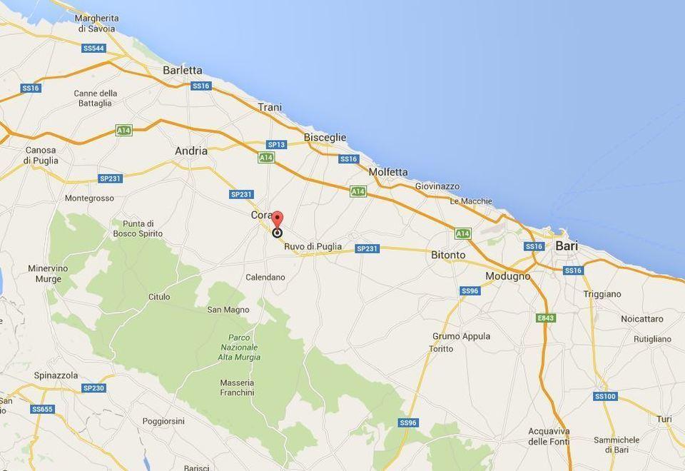 Ruvo Di Puglia Cartina.Bari Scontro Fra Treni Tra Corato E Ruvo Di Puglia La Mappa