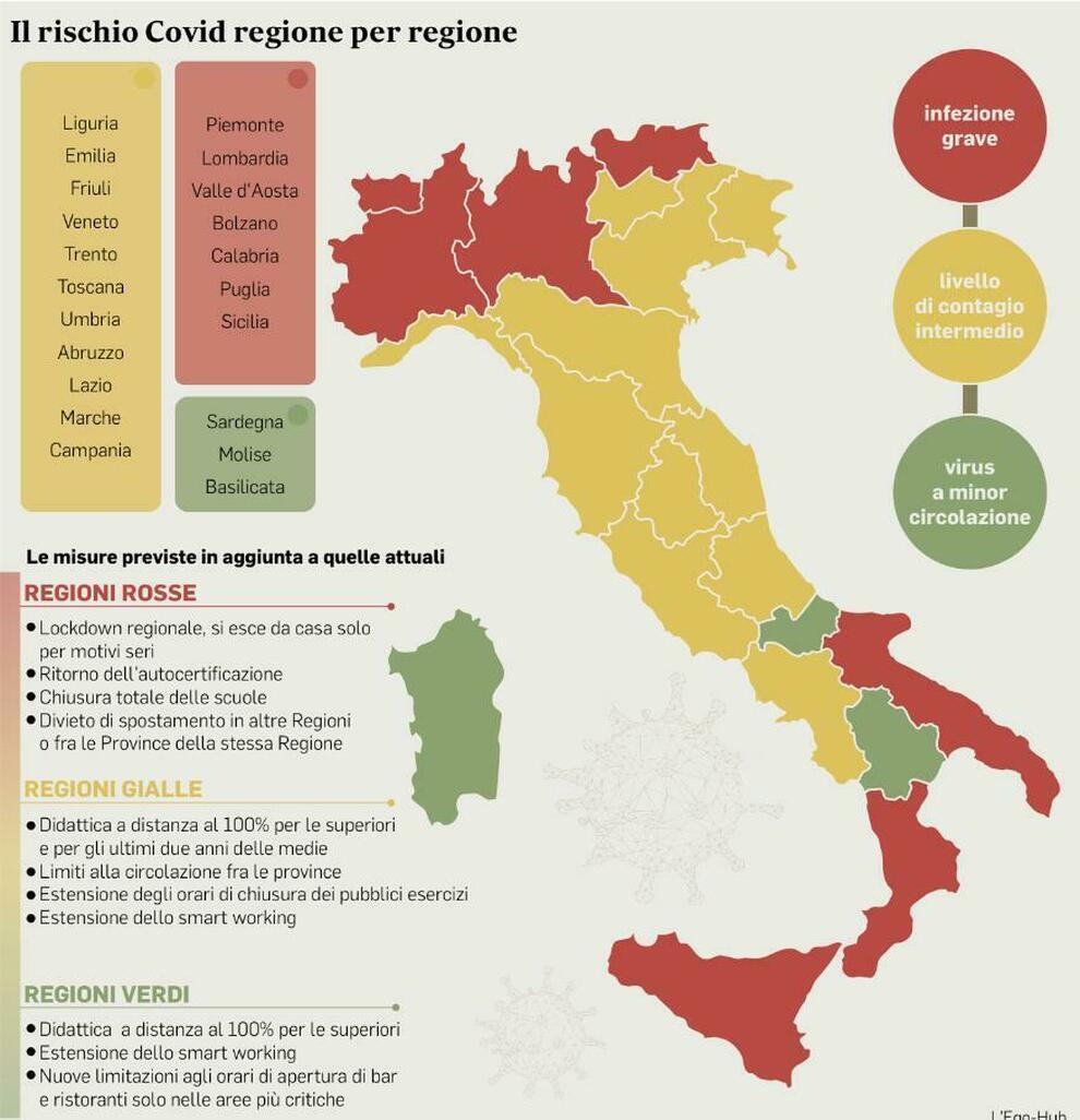 Italia Cartina Regioni E Province
