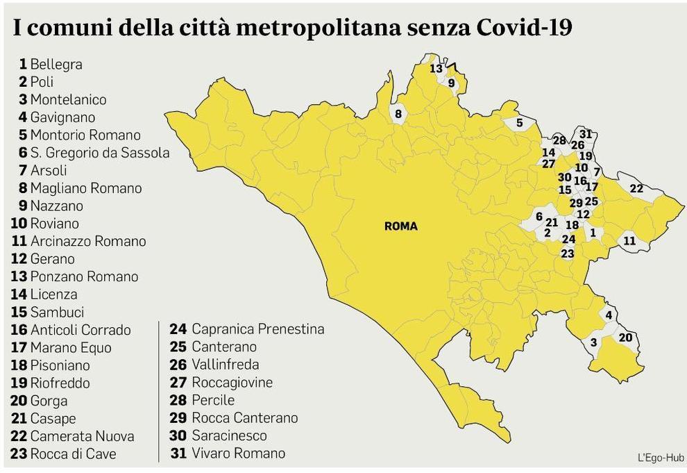 Cartina Mare Lazio.Roma La Mappa Dei Comuni Immuni Al Covid Da Bellegra A Gorga 31 A Zero Contagi