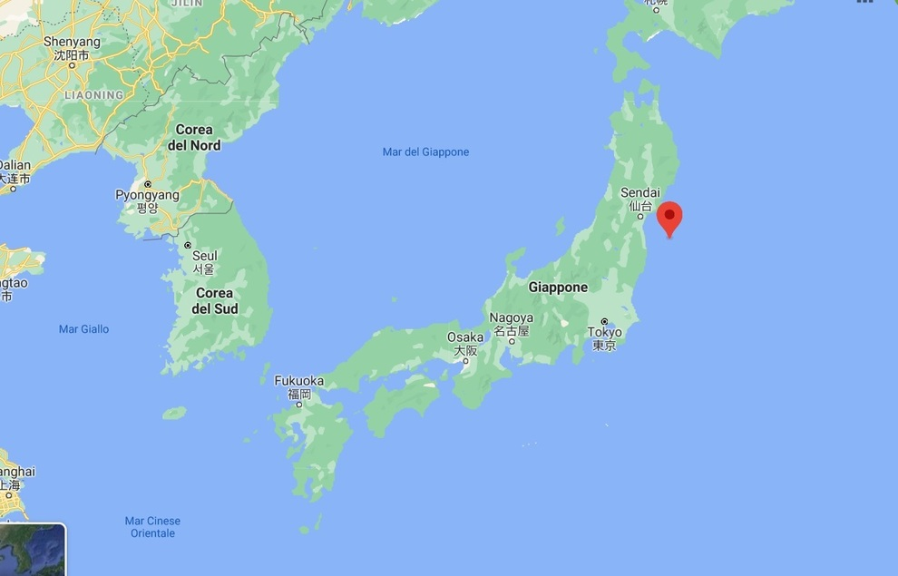 Cartina Del Giappone Politica.Terremoto In Giappone Di 7 1 Non Lontano Da Fukushima Rischio Tsunami
