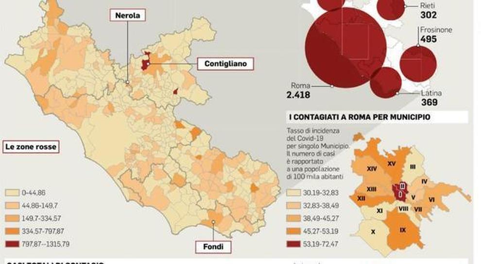 Cartina Roma Ciampino.Coronavirus Lazio Mappa Del Virus Nessun Malato In 156 Comuni
