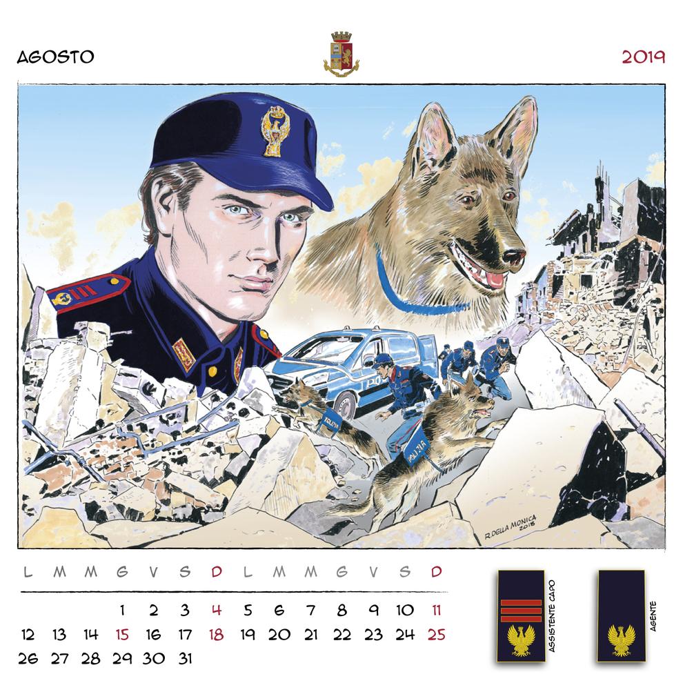 Calendario Carabinieri Dove Si Compra.Il Calendario 2019 Della Polizia Firmato Dalle Star Del Fumetto
