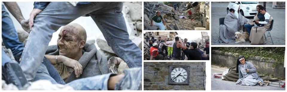Terremoto, il sindaco di Amatrice: «Metà paese non c'è più, la gente sotto le macerie»