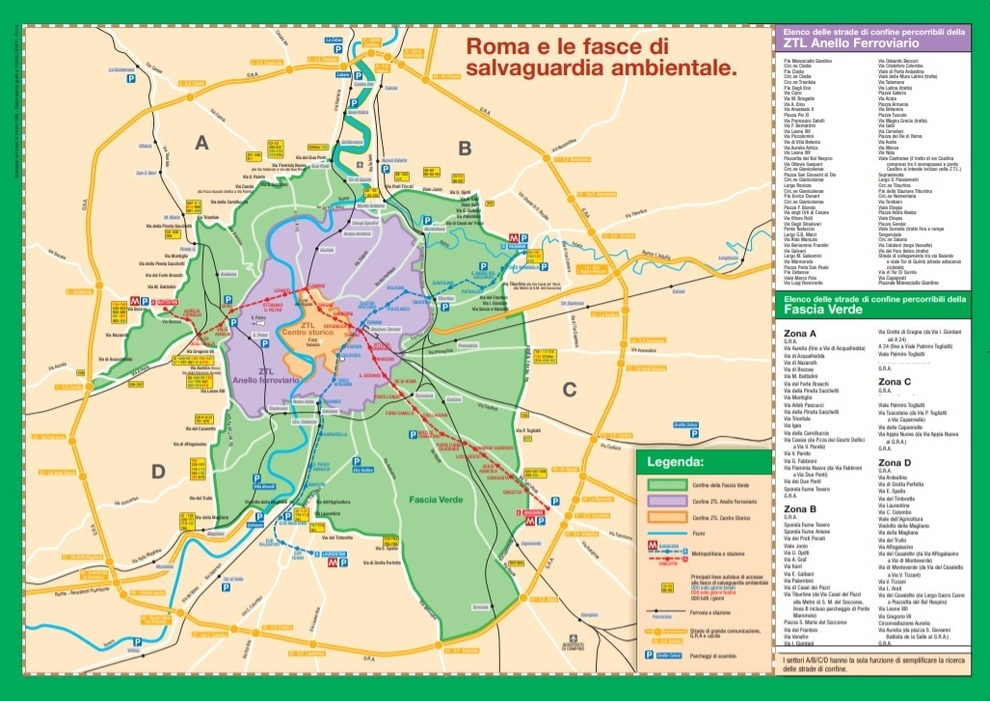 Cartina Ztl Roma.Roma Tornano Le Domeniche A Piedi Il 15 Novembre Primo Stop Alle Auto Nella Fascia Verde La Mappa Dei Divieti