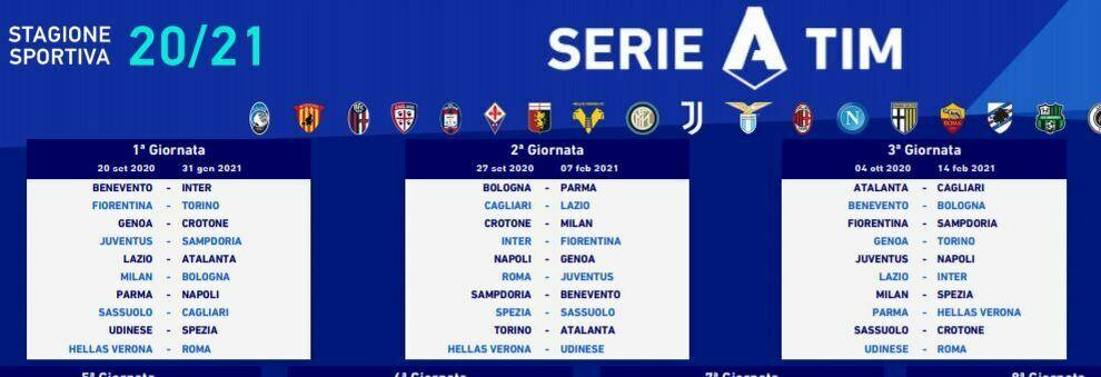 Calendario Serie A Diretta Il Derby Lazio Roma Il 17 Gennaio Per La Juventus Avvio In Salita