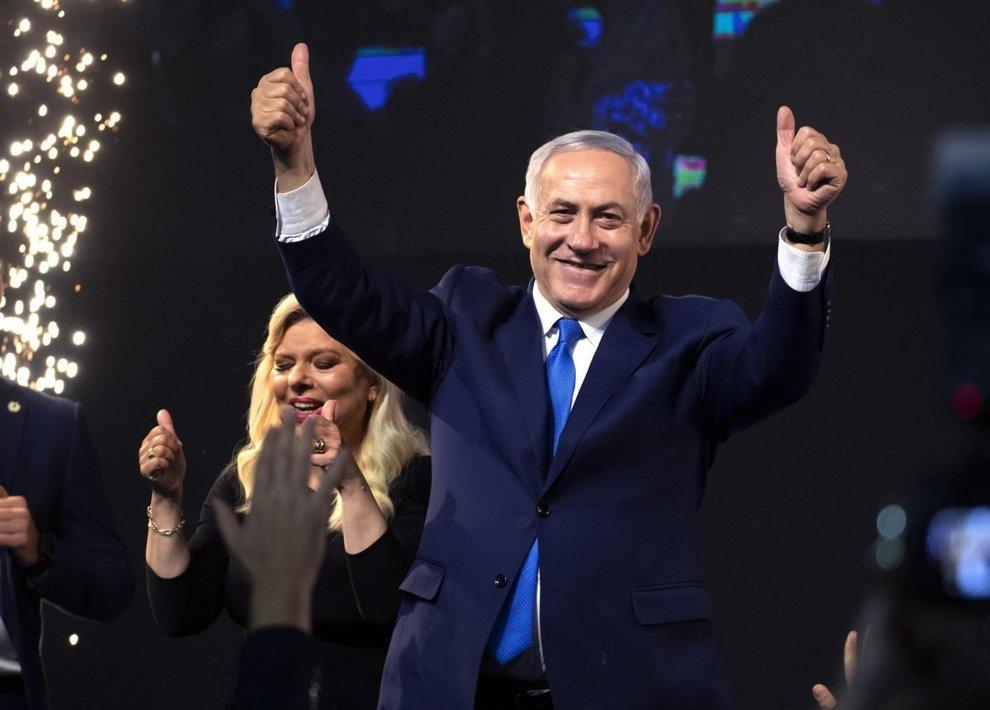 Risultato immagini per Netanyahu vince alle elezioni immagini