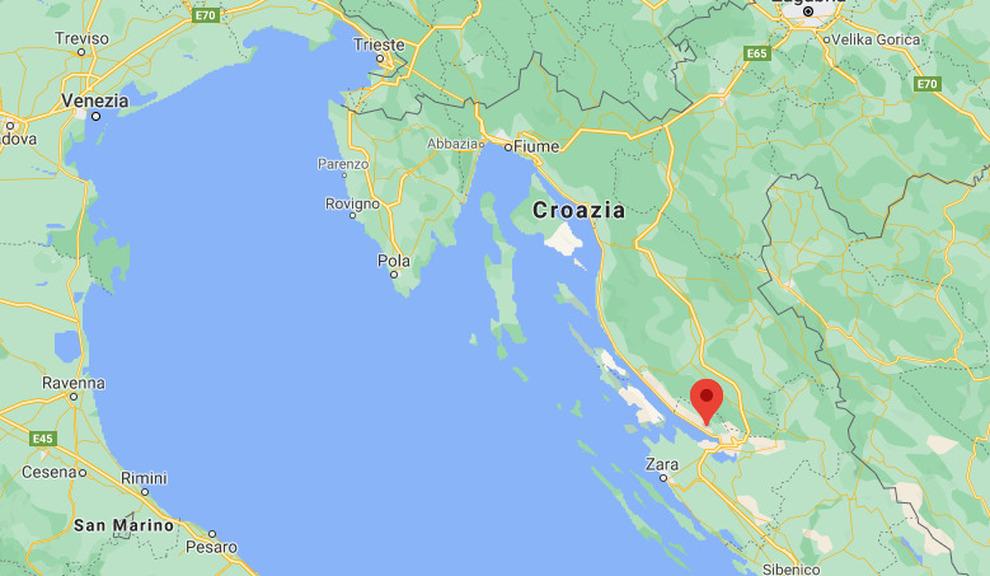 Cartina Italia Terremoti.Terremoto In Dalmazia Di 4 7 Panico A Zara Scossa Avvertita Anche In Italia