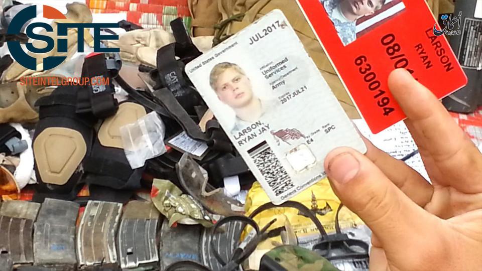 Isis pubblica foto di equipaggiamento rubato a soldati americani