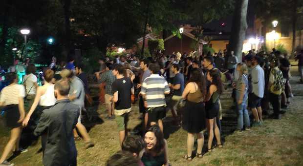 Uno dei party all'Università di Roma La Sapienza