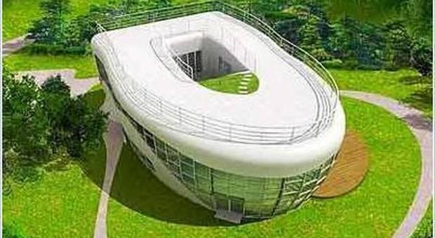 immagine La forma è inconfondibile: la Toilet House in Corea del sud