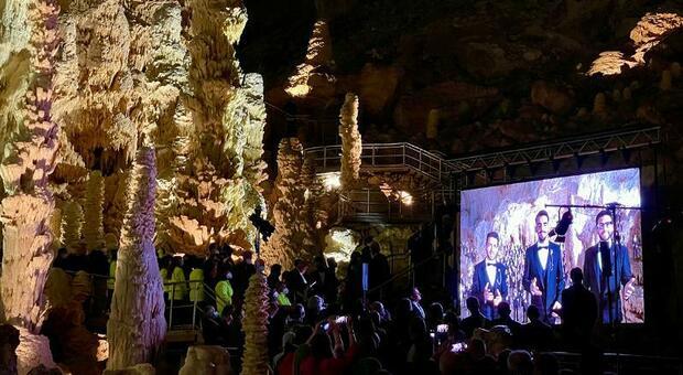 Il Volo live nelle Grotte di Frasassi a 50 anni della loro scoperta. La nuova illuminazione è stata affidata a Storaro