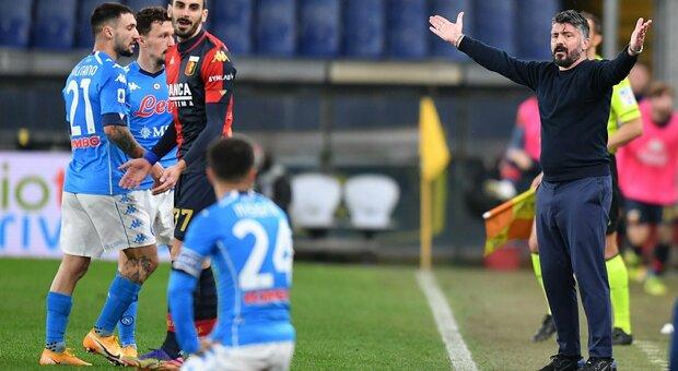 Gattuso non si sente in discussione: «Il Napoli ha giocato bene, purtroppo gira tutto male»