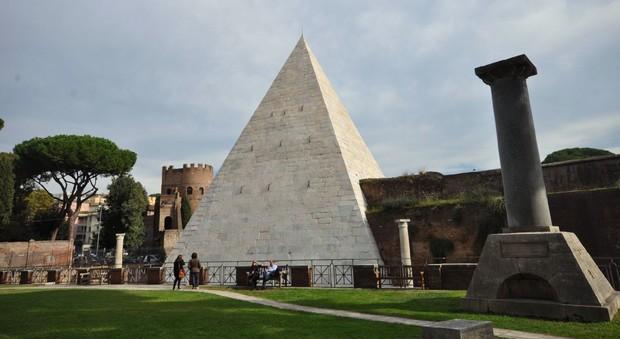 La Piramide Cestia restaurata