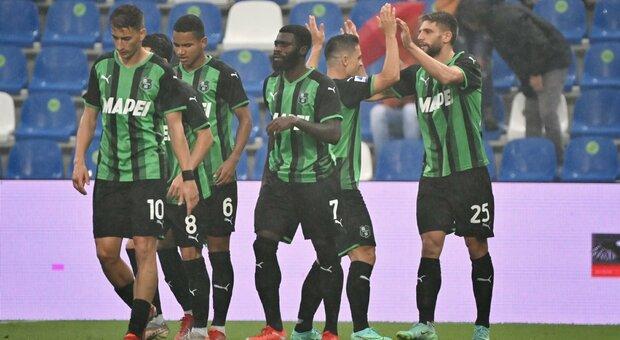 Al Sassuolo basta Berardi. Castori resta in bilico: «Gran partita della Salernitana»