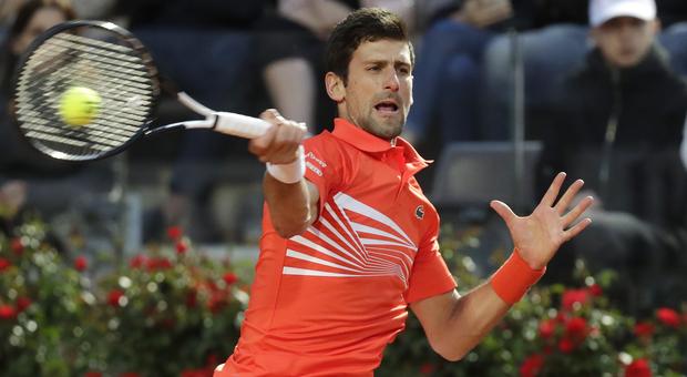 Novak Djokovic in azione