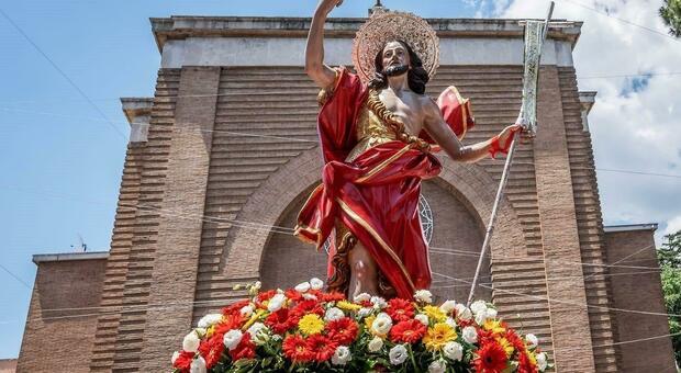 la statua del patrono San Giovanni Battista