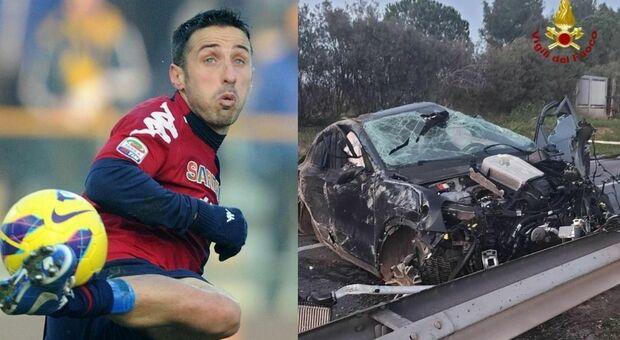 Cagliari, incidente per Andrea Cossu: l'ex calciatore sbalzato fuori dall'auto, è grave