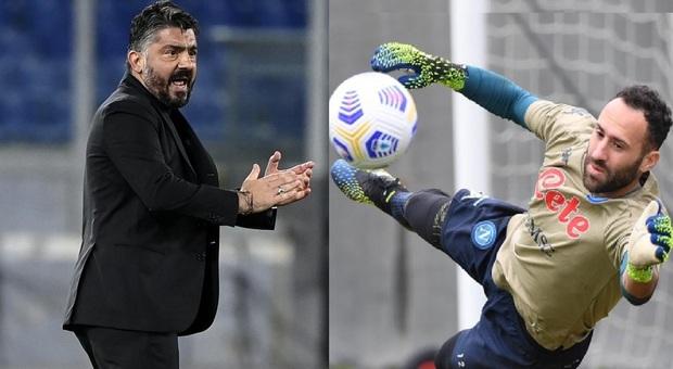 Napoli, Gattuso recupera pure Ospina per la sfida contro la Juventus: il colombiano sarà protagonista allo Stadium