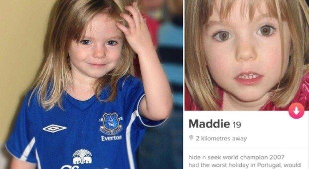 Tinder choc, aperto profilo della piccola Maddie