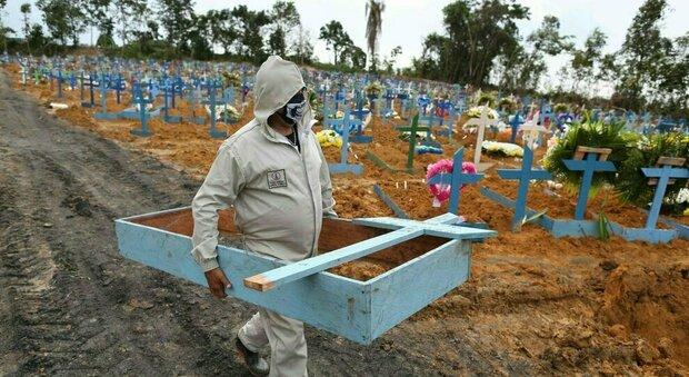 in Brasile oltre 400mila morti per covid, 100 mila in 36 giorni