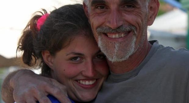 Lisa Collazuol col papà Enrico in una bellissima immagine