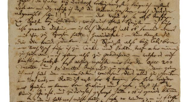 La lettera di Mozart alla moglie il 10 aprile 1789