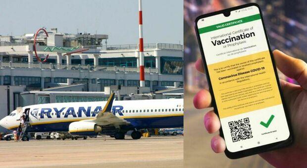 Passaporto vaccinale, Ryanair si rifiuta «Sui nostri voli non sarà richiesto , non dovrebbero esserci questi limiti»