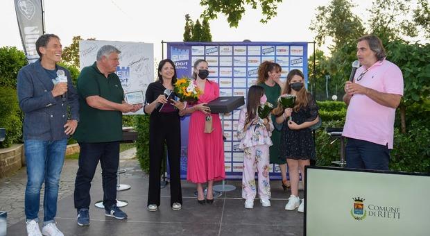 La premiazione di Federica Cappelletti (foto Ufficio stampa Rieti Sport Festival)