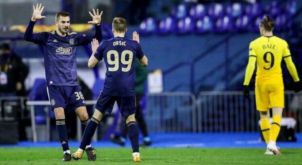Tripletta di Orsic, ex dello Spezia: la Dinamo Zagabria elimina il Tottenham di Mourinho ai supplementari