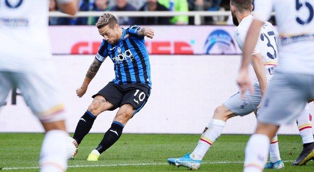 Zapata, Gomez e Gosens: 3-1 al Lecce, l'Atalanta vola