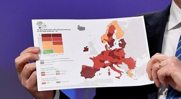 Zona rosso scuro Veneto, Friuli, Emilia Romagna e Bolzano: ecco la nuova mappa Covid Ue