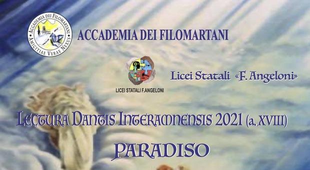 Locandina Lectura Dantis Interamnensis, edizione 18