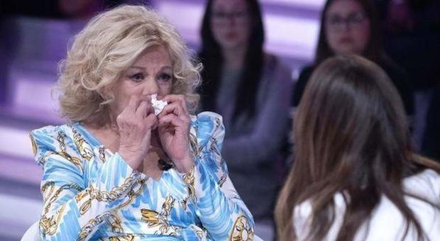 Verissimo, Sandra Milo in lacrime: