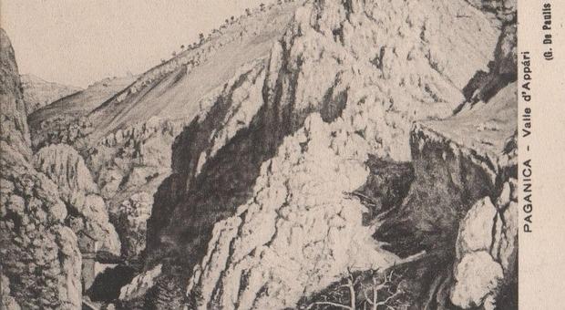 1913 - Cartolina da un dipinto dell'artista paganichese Giovanni De Paulis