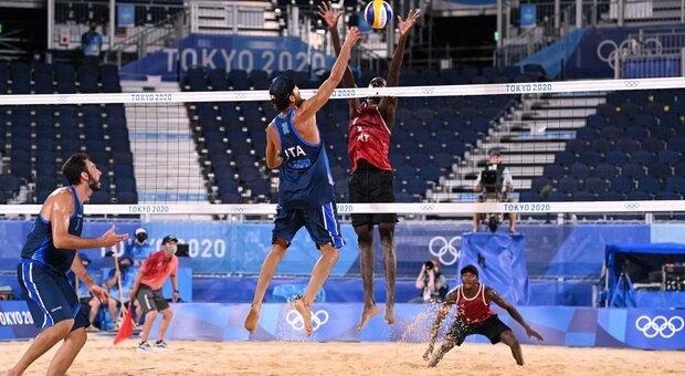 Diretta Beach Volley, Italia-Qatar live alle 15. Lupo-Nicolai per un posto in semifinale