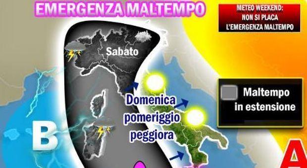 Meteo, nuova pertubazione in arrivo: weekend di pioggia in tutta Italia