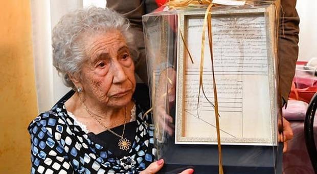 La centenaria fiuggina Assunta Riccardi