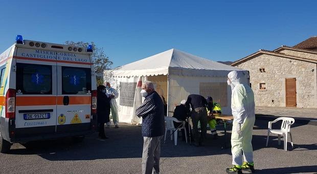 """Coronavirus: oltre 3000 cittadini hanno aderito ai test rapidi effettuati dalla Protezione Civile """"Sud-ovest Orvietano"""""""