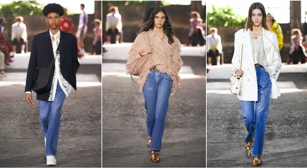 Valentino X Levis, ecco i jeans dellla sfilata a Milano: Piccioli reinterpreta i 517 degli anni '60