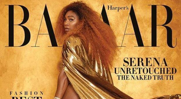 Serena Williams senza ritocchi sulla copertina di Harper's Bazaar: «Ecco la mia nuda verità»