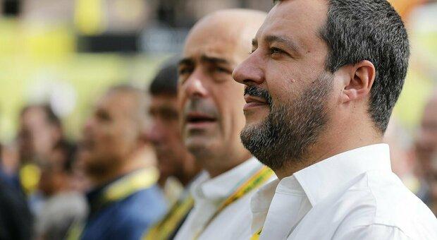 Governo, Salvini e l'Euro: «Irreversibile? Lo è solo la morte». E Zingaretti: «Moneta unica rafforza Italia»