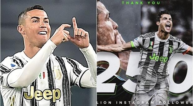 Un altro record per Cristiano Ronaldo: 250 milioni di followers su Instagram