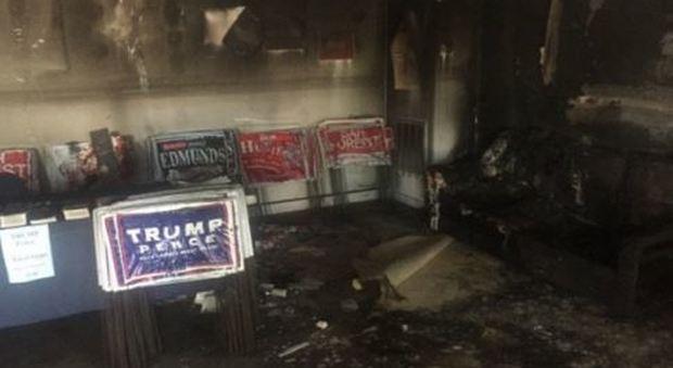 Molotov contro sede del Partito Repubblicano in North Carolina, Trump: «Animali»