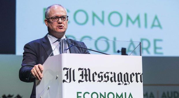 Economia circolare, Gualtieri: sostenibilità al centro dell'azione di governo