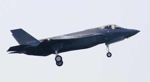 L'immagine di un F-35A che fa parte della nuova flotta dell'aeronautica giapponese