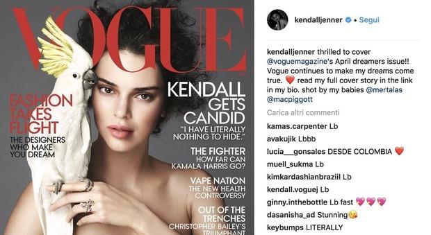 Kendall Jenner si confessa su Vogue: «Non sono gay, ma chi lo sa»