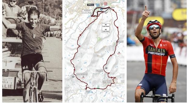 Ciclismo, i Mondiali di Imola: da Nibali al Drake, dai longobardi alla bella Lola, da Adorni a Capirossi, da Pantani alla Linea Gotica, ecco il percorso