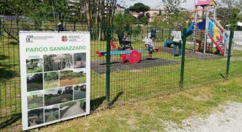 Parco Sannazzaro, Zingaretti inaugura il restyling: nuovi alberi, aiuole, panchine e via le barriere architettoniche